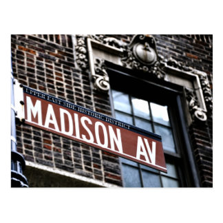 NYC Madison Ave Postcard