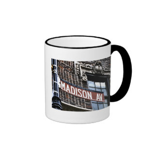 NYC Madison Ave Ringer Mug