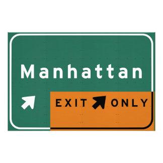 NYC Manhattan Exit Interstate Highway Freeway Road Photo Print