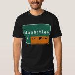 NYC Manhattan Exit Interstate Highway Freeway Road T Shirt