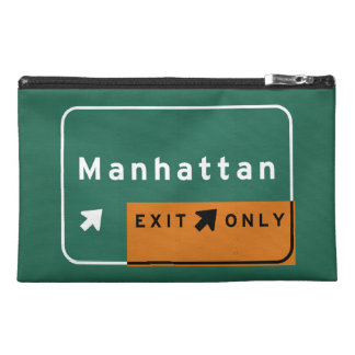 NYC Manhattan Exit Interstate Highway Freeway Road Travel Accessories Bags