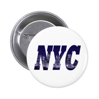 NYC- Manhattan Skyline from Brooklyn At Night Pin
