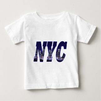 NYC- Manhattan Skyline from Brooklyn At Night Infant T-shirt