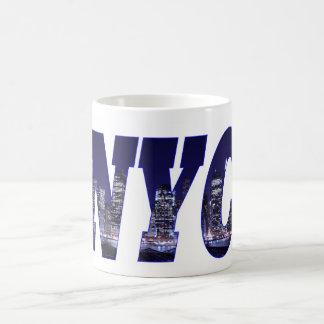 NYC- Manhattan Skyline from Brooklyn At Night Mug