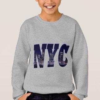 NYC- Manhattan Skyline from Brooklyn At Night Sweatshirt