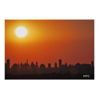 NYC/Manhattan skyline photo poster