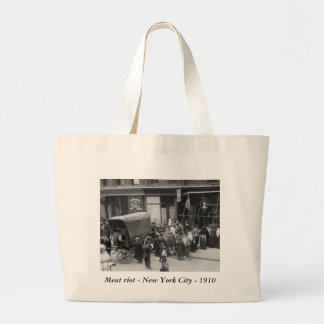 NYC Meat Riot, 1910 Large Tote Bag