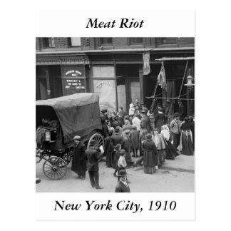 NYC Meat Riot, 1910 Postcard