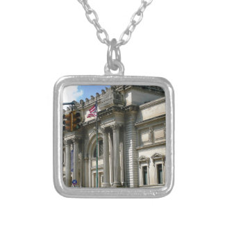 NYC Metropolitan Museum Silver Plated Necklace