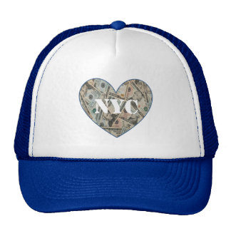NYC Money Heart Trucker Hat