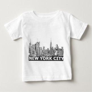 NYC monochrome skyline text Baby T-Shirt
