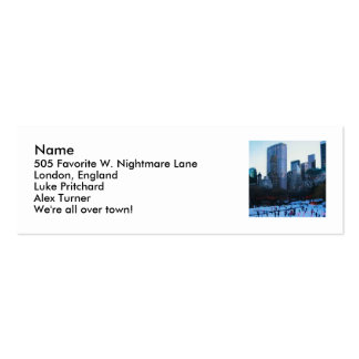NYC, Name, 505 Favorite W. Nightmare Lane, Lond... Mini Business Card