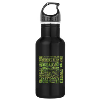 NYC Neighborhoods Green Stainless Steel Water Bottle