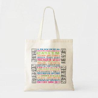 NYC Neighborhoods Rainbow Tote Bag