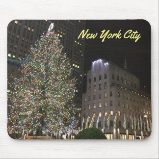 NYC New York Christmas Tree Rockefeller Center Mouse Pad