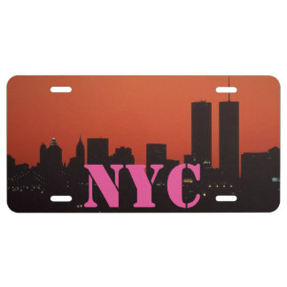 NYC New York City Aluminum License Plate