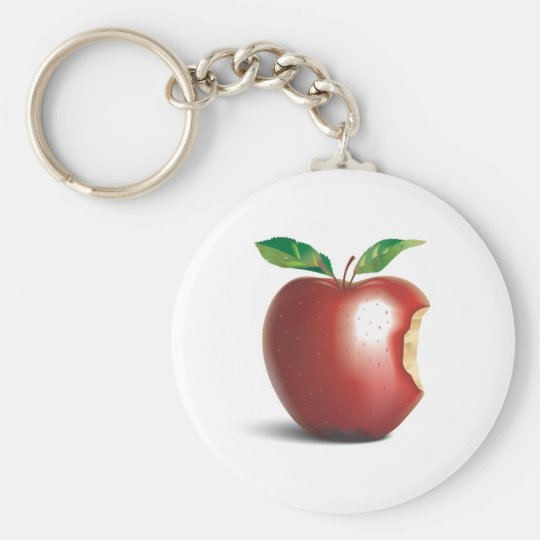 NYC New York City Apple Keychain