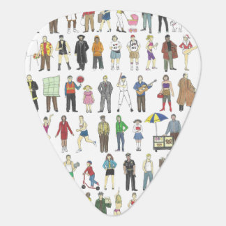 NYC New York City Art People Citizens Guitar Pick