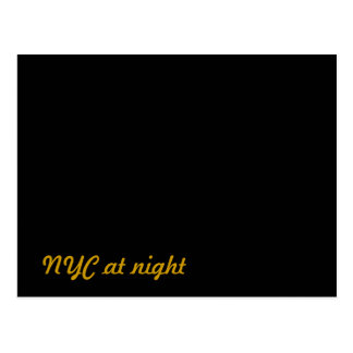 NYC New York City at night Postcard