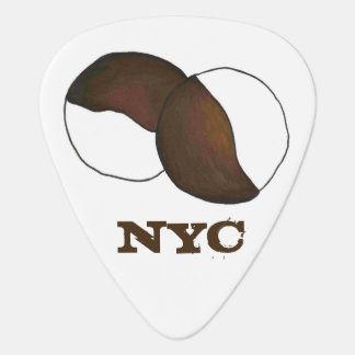 NYC New York City Black and White Cookie Cookies Guitar Pick