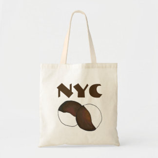 NYC New York City Black and White Cookie Tote