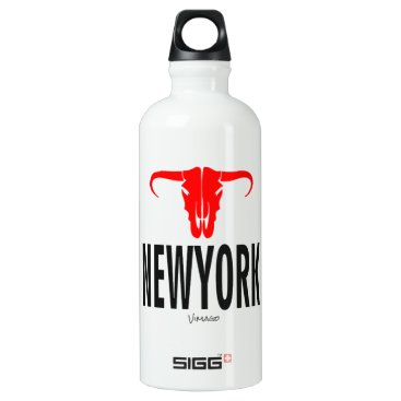 USA Themed NYC New York City by VIMAGO Aluminum Water Bottle
