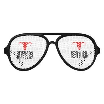 USA Themed NYC New York City by VIMAGO Aviator Sunglasses