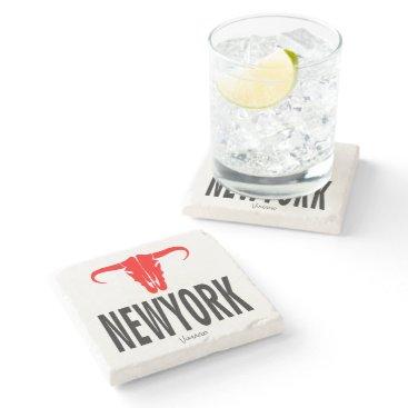 USA Themed NYC New York City by VIMAGO Stone Coaster
