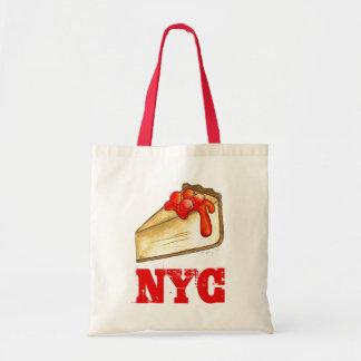 NYC New York City Cherry Cheesecake Slice Food Bag