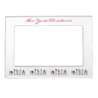 NYC New York City Christmas Xmas Holiday Landmarks Magnetic Frame