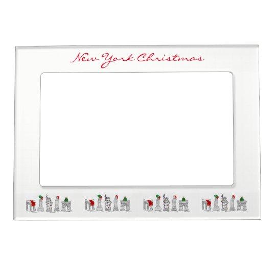 NYC New York City Christmas Xmas Holiday Landmarks Magnetic Frame ...