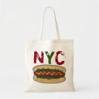NYC New York City Hotdog Hot Dog Dogs Relish Bag
