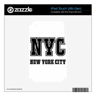 NYC New York City iPod Touch 4G Decal