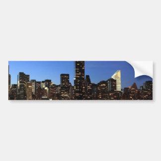 NYC New York City Manhattan Night Bumper Sticker