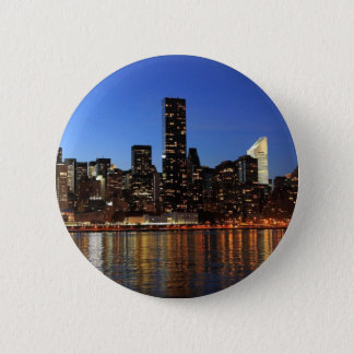 NYC New York City Manhattan Night Button