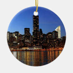 Nyc New York City Manhattan Night Ceramic Ornament at Zazzle
