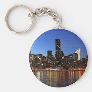 NYC New York City Manhattan Night Keychain