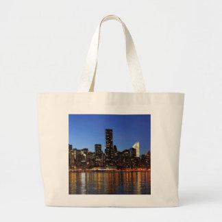 NYC New York City Manhattan Night Large Tote Bag