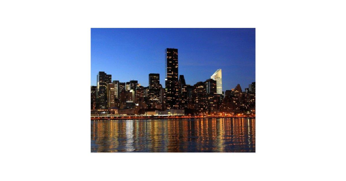 Nyc new york city manhattan night postcard zazzle m4hsunfo