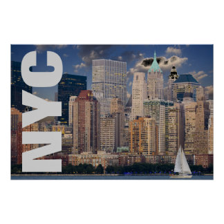 NYC New York City Manhattan Poster