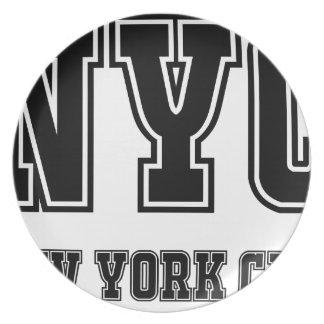 NYC New York City Melamine Plate