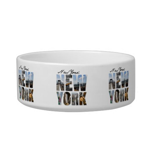 NYC New York City Montage Cat Food Bowls