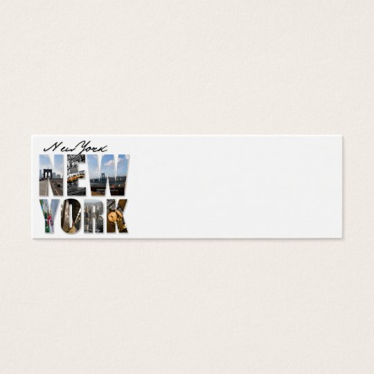 NYC New York City Montage Mini Business Card
