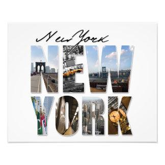 NYC New York City Montage Photo Art