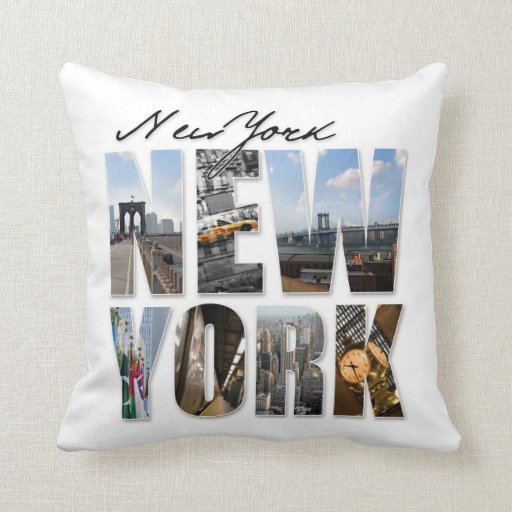 NYC New York City Montage Pillow
