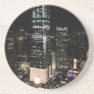 NYC New York City Night Skyline Architecture Light Drink Coaster