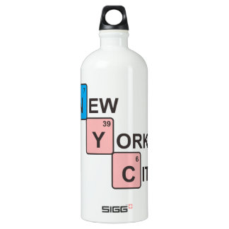 NYC New York City Periodic Table Aluminum Water Bottle