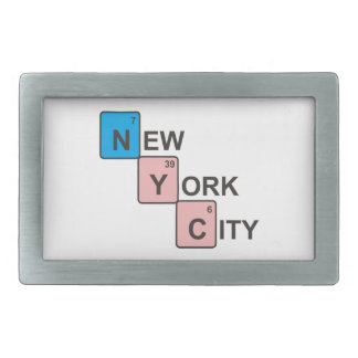 NYC New York City Periodic Table Rectangular Belt Buckles