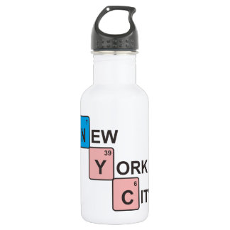 NYC New York City Periodic Table Stainless Steel Water Bottle