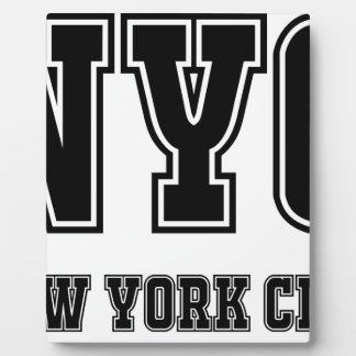 NYC New York City Plaque